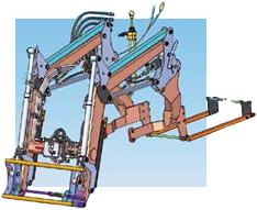 Konstrukcja wsporcza ładowacza LC2 z podparciem  na tylnej osi ciągnika to pewność trwałego i niezawodnego mocowania ŁADOWACZ CZOŁOWY LC2
