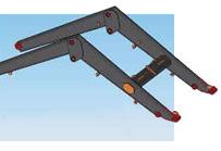 Wysięgnik ładowacza LC2 to lekka i wytrzymała konstrukcja wykonana z nowoczesnych gatunków materiałów