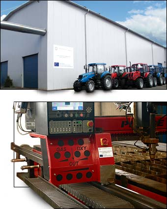 Budowa i wyposażenie hal produkcyjnych w fabryce Pronar Sp. z o.o.